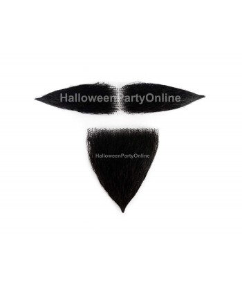 Halloween Party Costume Beard & Moustache Sets HB-201 Black #1B