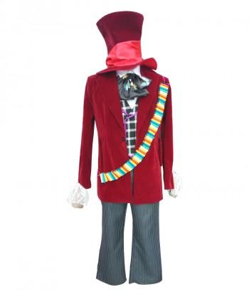 Halloween Party Costume Men's Deluxe Costume for Cosplay Hatter in Wonderland HC-001