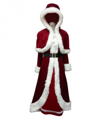Halloween Party Costume (1-2 Days Dispatch) Deluxe Classic Mrs. Santa Claus Costume HC-023