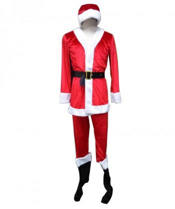 Halloween Party Costume Men's Classic Santa Claus Suit HC-029