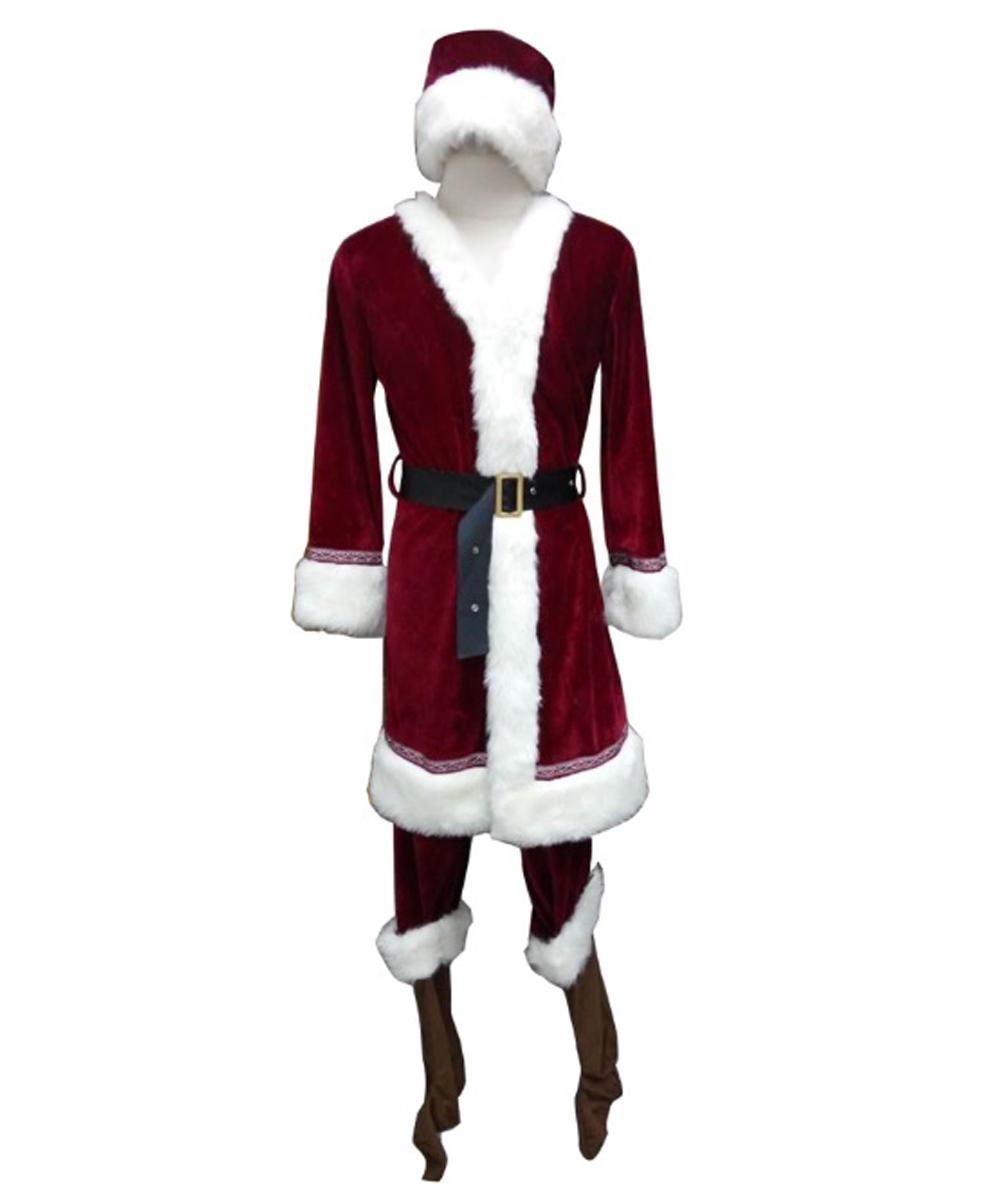 (1-2 Days Dispatch) Men's Deluxe Classic Santa Claus Suit HC-030