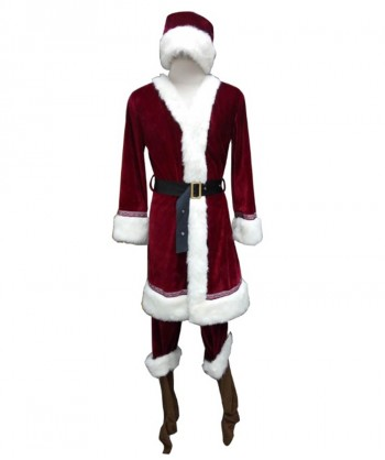 Halloween Party Costume (1-2 Days Dispatch) Men's Deluxe Classic Santa Claus Suit HC-030