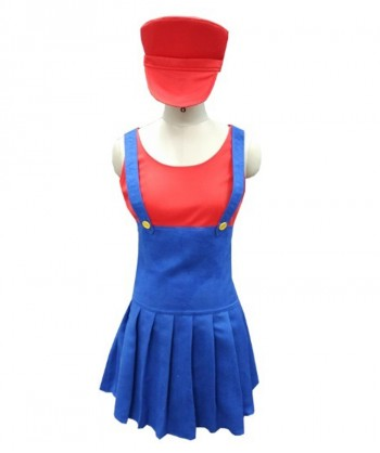 Halloween Party Costume Red Plumber Costume HC-033