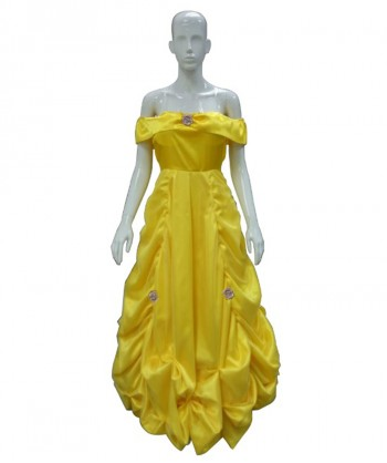 Halloween Party Costume Adult Costume for Cosplay Beauty and The Beast Predtige Belle HC-042