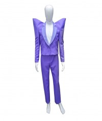 Halloween Party Costume (1-2 Days Dispatch) Adult Men's Costume for Cosplay Despicable Me 3 - Balthazar Bratt Purple Suit HC-047