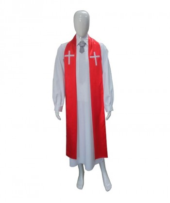 Halloween Party Costume (1-2 Days Dispatch) Adult Men's Priest Robe HC-066