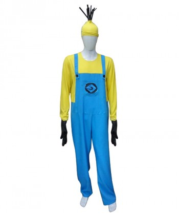 Halloween Party Costume Adult Men's Costume for Cosplay Despicable Me 3 Minions Kevin HC-210