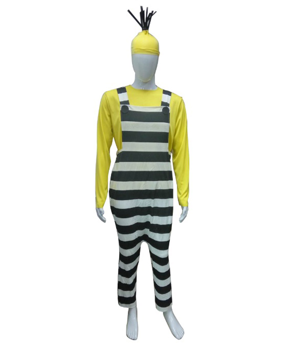 Adult Men's Costume for Cosplay Despicable Me 3 Jailed Minion Kevin HC-215