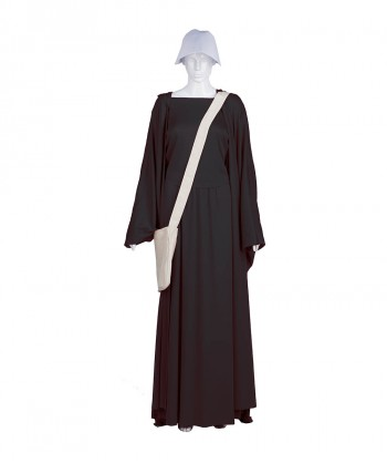 Halloween Party Costume Adult Women's Black Handmaid Full Set Costume HC-235