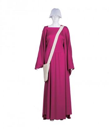 Halloween Party Costume Adult Women's Purple Handmaid Full Set Costume HC-238