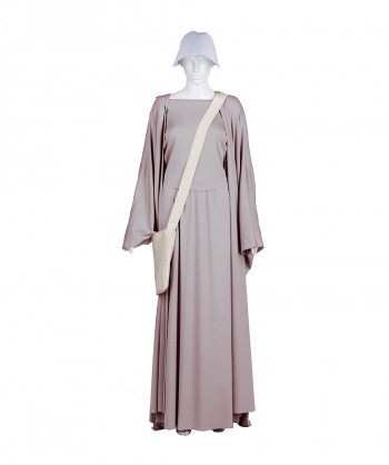 Halloween Party Costume Adult Women's Grey Handmaid Full Set Costume HC-243