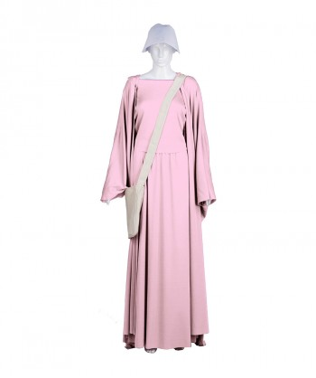 Halloween Party Costume Adult Women's Pink Handmaid Full Set Costume HC-244