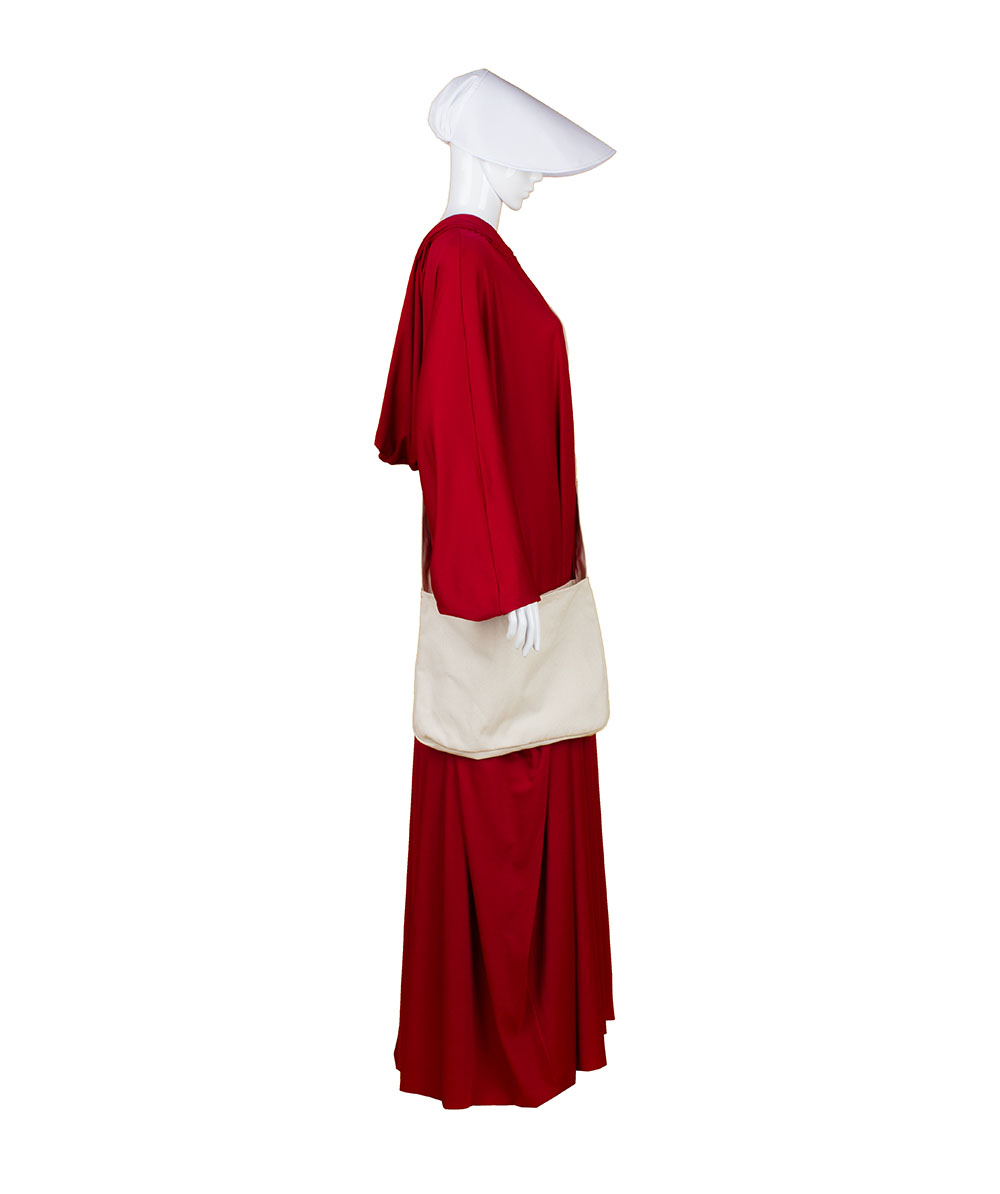 Adult Women's Red Robe Handmaid Costume with Bag and Bonnet HC-246