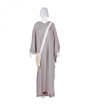 Halloween Party Costume Adult Women's Grey Robe Handmaid Costume with Bag and Bonnet HC-252