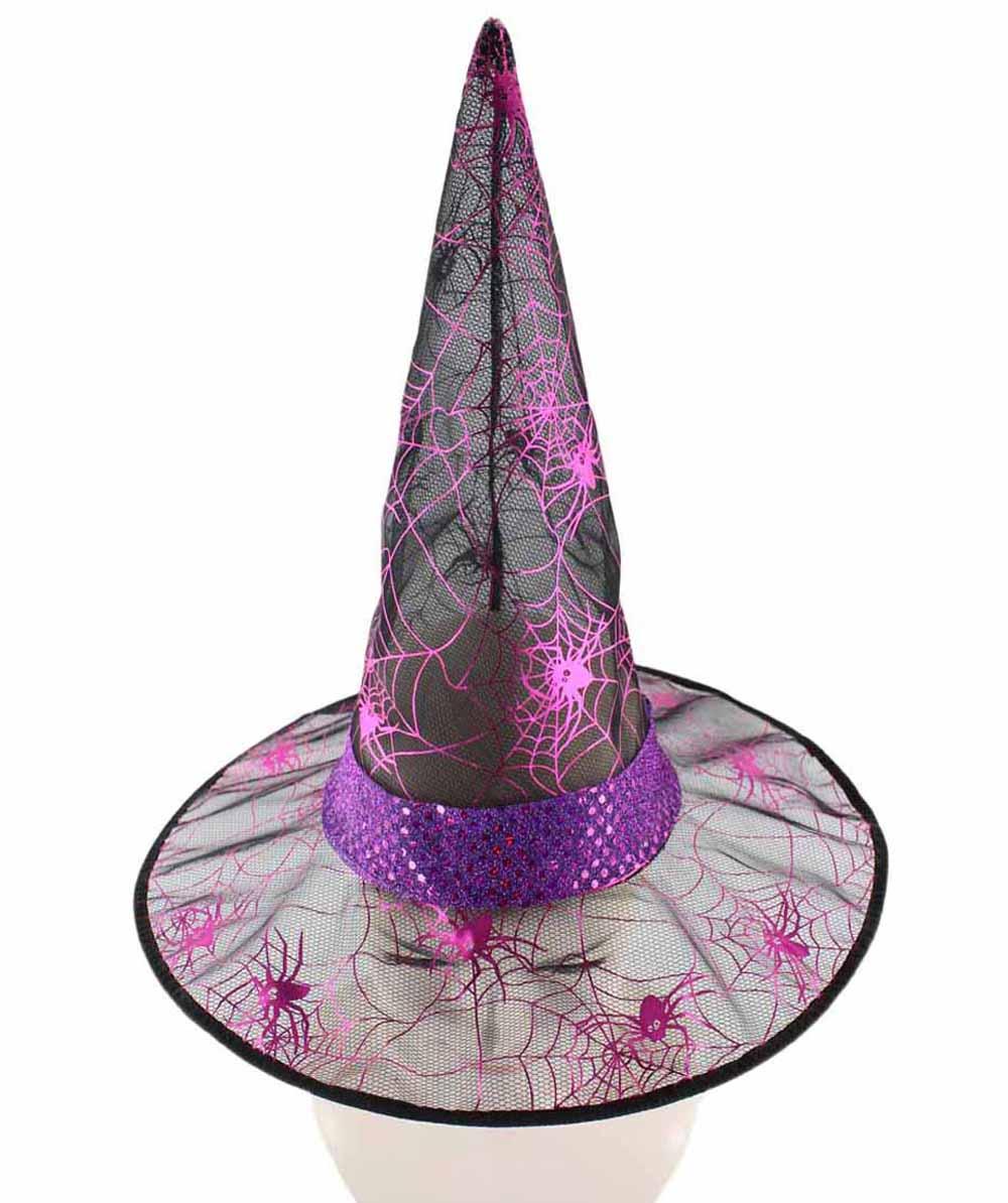 Black & Fuscia Witch Hat HA-001