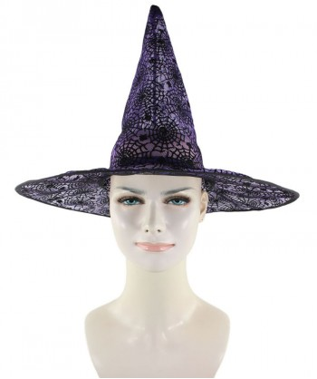 Halloween Party Costume Purple & Black Witch Hat HA-002