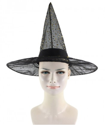 Halloween Party Costume Black Sparkle Witch Hat HA-005