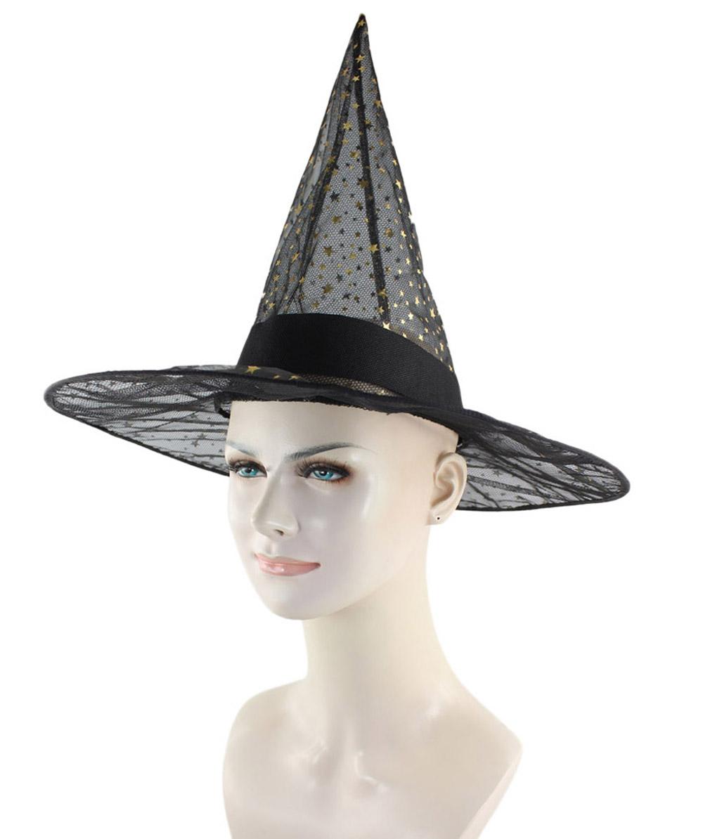 Black Sparkle Witch Hat HA-005