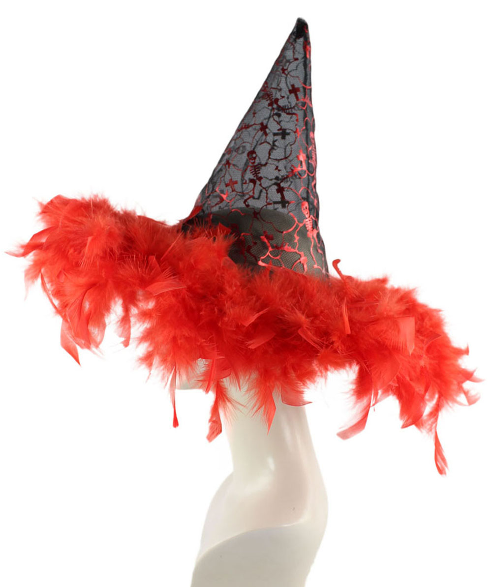 Black & Red Witch Hat  HA-009