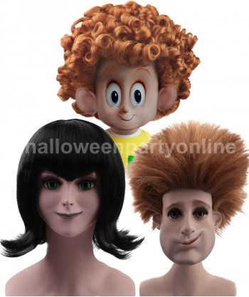 Halloween Party Costume Wig for Cosplay Transylvania - Johnny Wig HM-046 + Mavis Wig HW-162 + Dennis Wig HM-047