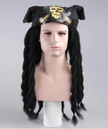 Halloween Party Costume Pirate Deep Wig HM-009