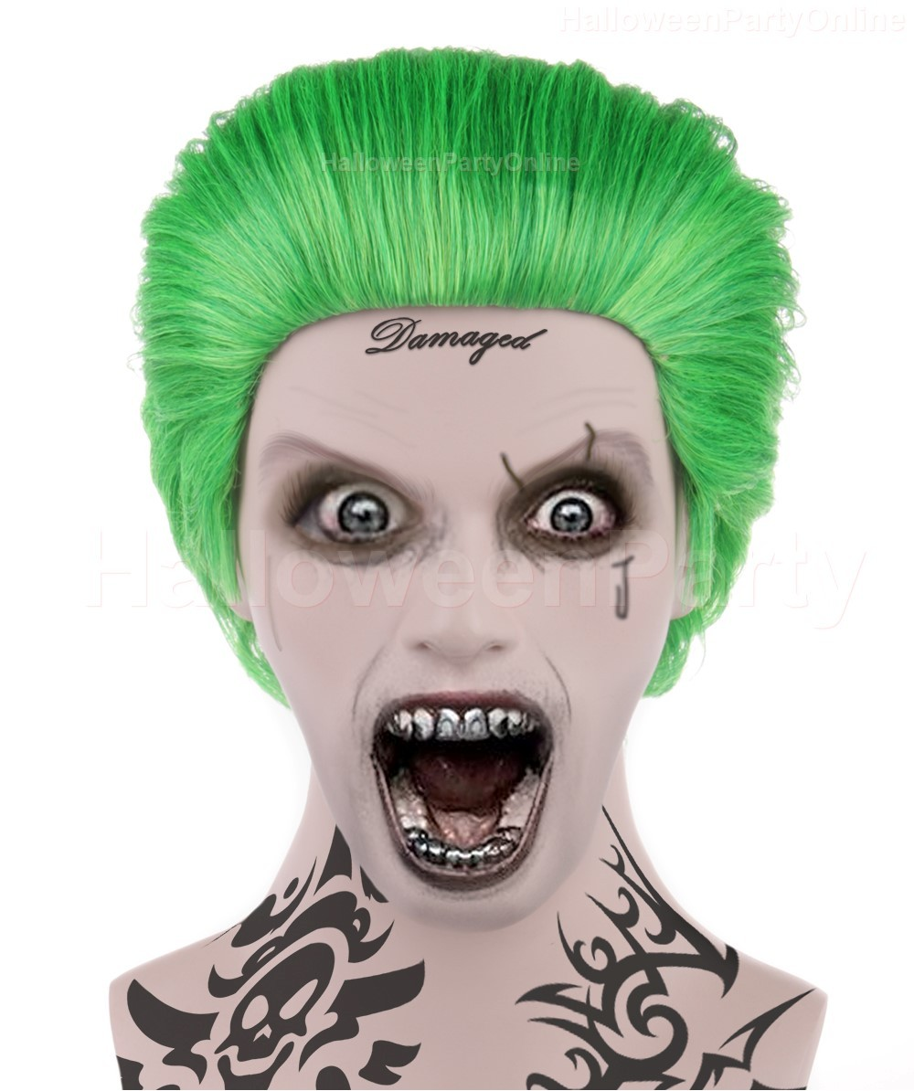 (1-2 Days Dispatch) Wig for Cosplay Joker Green HM-045