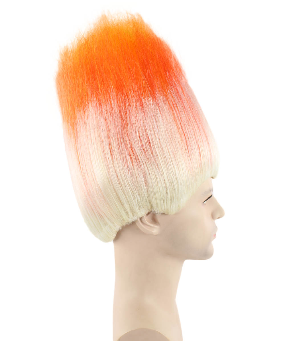 (1-2 Days Dispatch) Wig for Cosplay Trolls Orange & White HM-049