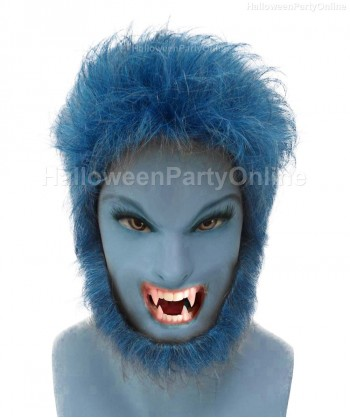 Halloween Party Costume EXCLUSIVE! Wig for Cosplay Beast Blue HM-057