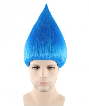 Halloween Party Costume (1-2 Days Dispatch) Wig for Cosplay Troll Blue HM-075