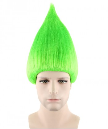 Halloween Party Costume (1-2 Days Dispatch) Wig for Cosplay Troll Neon Green HM-076