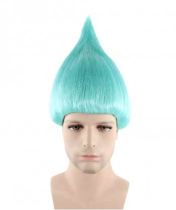 Halloween Party Costume (1-2 Days Dispatch) Wig for Cosplay Troll Light Blue HM-079