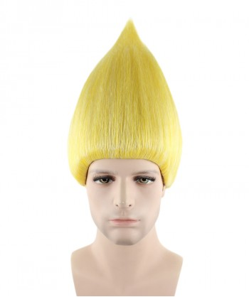 Halloween Party Costume (1-2 days dispatch) Wig for Cosplay Troll Gold HM-081