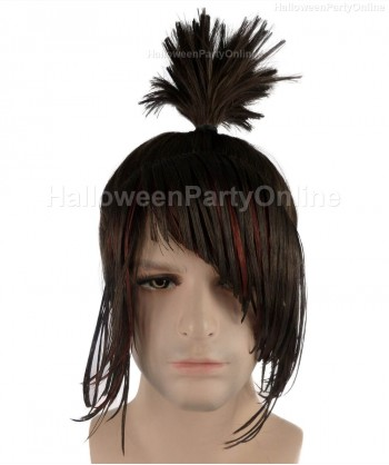 Halloween Party Costume Wig for Cosplay Kubo Ninja Black Wig HM-083