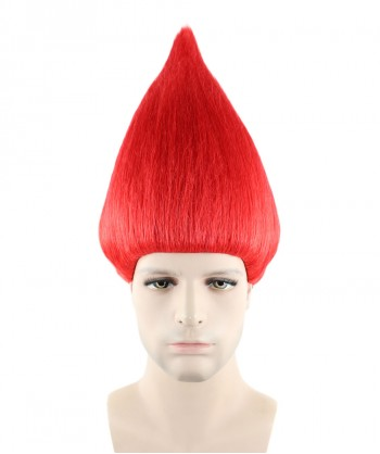 Halloween Party Costume Wig for Cosplay Troll Red HM-086