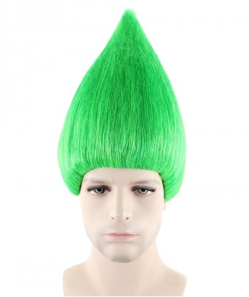 Halloween Party Costume (1-2 days dispatch) Wig for Cosplay Troll Green HM-089
