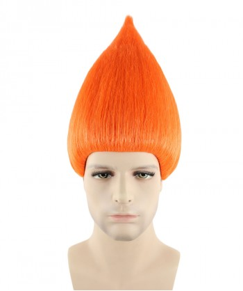 Halloween Party Costume (1-2 days dispatch) Wig for Cosplay Troll Orange HM-090