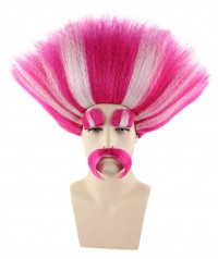 Halloween Party Costume (1-2days dispatch) Wig for Cosplay Troll King Peppy HM-110
