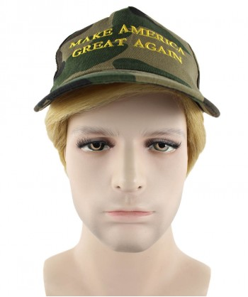 Halloween Party Costume EXCLUSIVE! Wig for President Trump II with Make America Great Again Camo Cap Hat HM-118