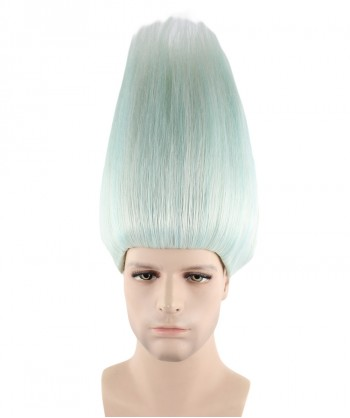Halloween Party Costume Wig for cosplay Silver White Troll Style HM-126