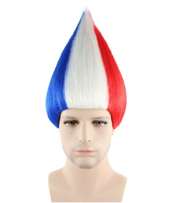 Halloween Party Costume France National Flag Troll Wig, HM-128