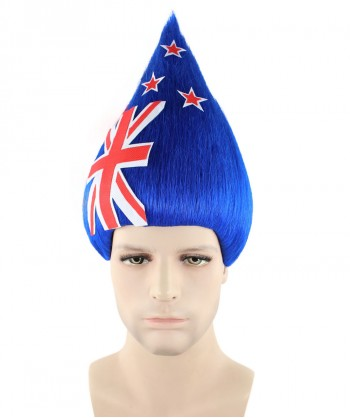Halloween Party Costume New Zealand National Flag Troll Wig, HM-133