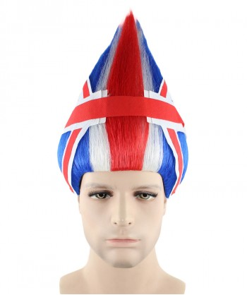 Halloween Party Costume U.K. National Flag Troll Wig, HM-137