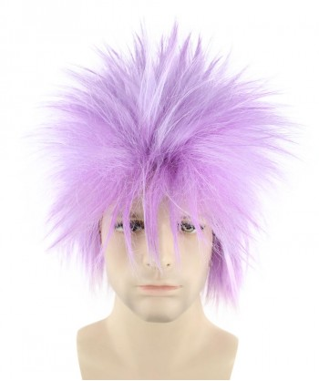 Halloween Party Costume 80S Adult Men Rock Light Purple Style Wig HM-142