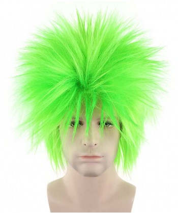 Halloween Party Costume 80S Adult Men Rock Lime Style Wig HM-143