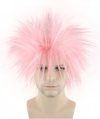 Halloween Party Costume 80S Adult Men Rock Light Pink Style Wig HM-144