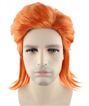 Halloween Party Costume 80's Orange Rock Mullet Wig HM-149