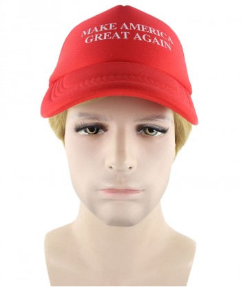 Halloween Party Costume EXCLUSIVE! Wig for President Trump II with Make America Great Again Red Cap Hat HM-155