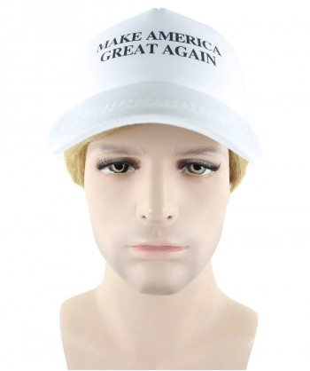 Halloween Party Costume EXCLUSIVE! Wig for President Trump II with Make America Great Again White Cap Hat HM-156