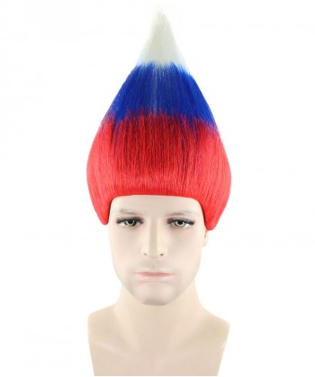 Halloween Party Costume (1-2 Days Dispatch) Russia National Flag Troll Wig, HM-158