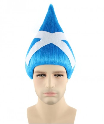 Halloween Party Costume Scotland National Flag Troll Wig, HM-159